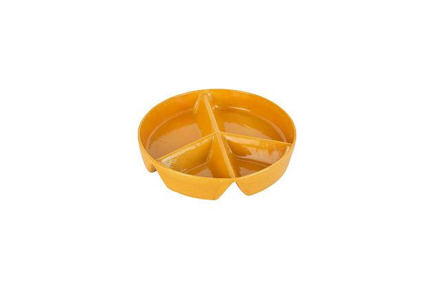 Kalalou Ceramic Peace Sign Chip and Dip Tray, , large