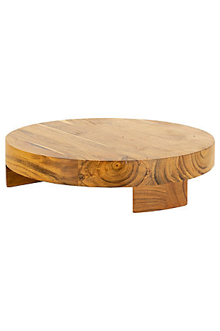 Kalalou Round Acacia Wood Serving Board, , large