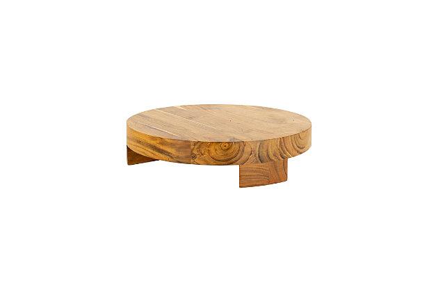 Kalalou Round Acacia Wood Serving Board, , large