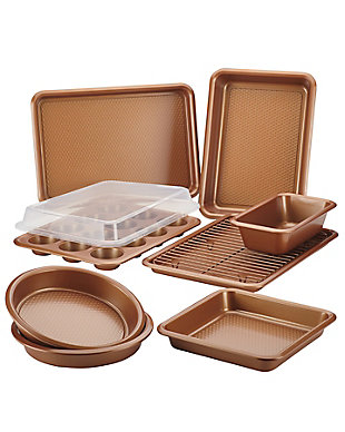 Ayesha Curry 10-Piece Bakeware Set, Copper, , rollover