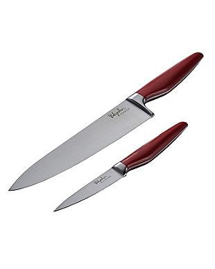 """Ayesha Curry 2-Piece Cutlery Set: 8"""" Chef Knife w/Sheath & 3.5"""" Paring Knife w/Sheath, Sienna Red, Sienna Red, large"""