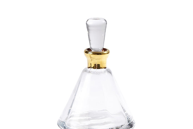 Global Views Cone Decanter Gold, , large