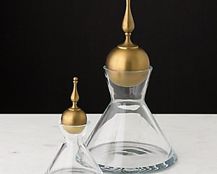 Global Views Finial Decanter Brass - Small, , rollover