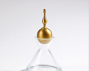 Global Views Finial Decanter Brass - Small, , large