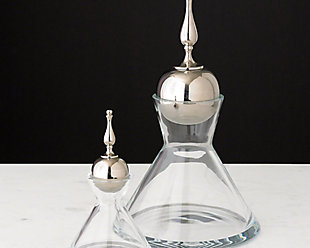 Global Views Finial Decanter Nickel - Small, , rollover