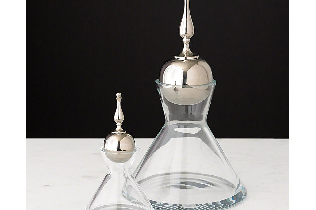 Global Views Finial Decanter Nickel - Small, , large