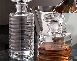 Global Views Ribbed Decanter Tall, , rollover
