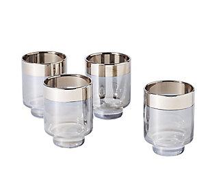 Global Views Set of 4 Twilight Drinking Glasses Short, , large