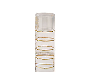 Global Views Glass Grid Carafe with Cup Gold, , large