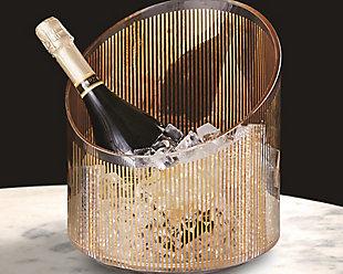 Global Views Gold Stripe Ice Bucket, , large