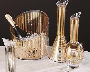 Global Views Gold Stripe Wine Decanter Cone, , rollover