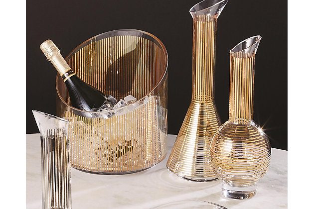 Global Views Gold Stripe Wine Decanter Cone, , large
