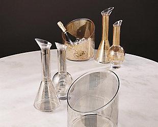 Global Views Platinum Stripe Wine Decanter Cone, , rollover