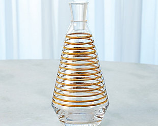 Global Views Gold Banded Decanter, Clear/Gold, rollover