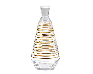 Global Views Gold Banded Decanter, Clear/Gold, large