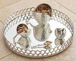 Global Views Chestnut Bowl Nickel Med, , large
