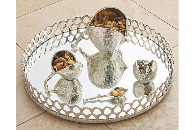 Global Views Chestnut Bowl Nickel - Small, , large