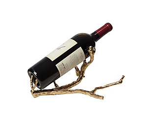 Global Views Twig Wine Bottle Holder Brass, Brass, large
