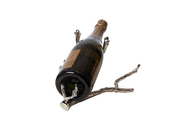 Global Views Twig Wine Bottle Holder Nickel, Nickel, large