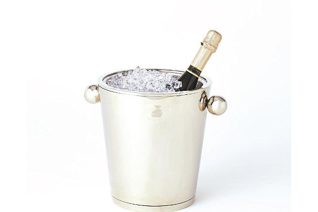 Global Views Margot Champagne Bucket Nickel, Nickel, large
