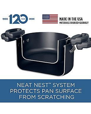 Farberware Neat Nest Nonstick 3.5-Quart Covered Saucepan, Black, , rollover