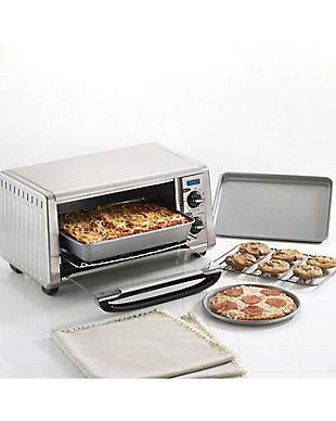 "Farberware Nonstick Bakeware 4-Piece Toaster Oven Set: (2) 10""x7"" Cookie Pans, (1) 10"" x 7"" Cake Pan, (1) 7"" Pizza Pan, , rollover"