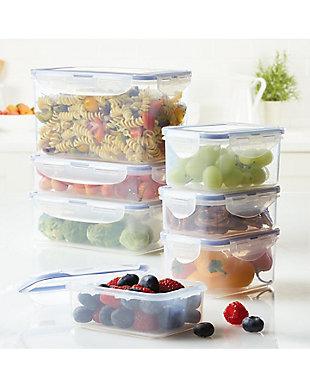 Lock & lock Easy Essentials™ Assorted Rectangular Food Storage Container Set,  14-Piece, , rollover