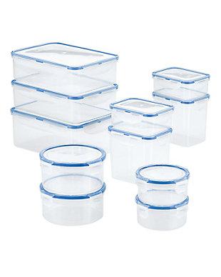 Lock & lock Easy Essentials™ Assorted Rectangular Food Storage Container Set,  22-Piece, , large
