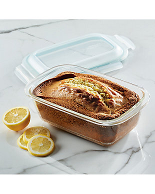 """Lock & lock Lock and Lock Purely Better™ Glass 8.5"""" x 5.5"""" Loaf Pan w/Lid, , rollover"""