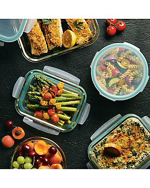 Lock & lock Lock and Lock Purely Better™ Glass Assorted Food Storage Container Set, 10-Piece, , rollover