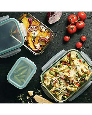 Lock & lock Lock and Lock Purely Better™ Glass Assorted Rectangular Food Storage Container Set, 6-Piece, , rollover