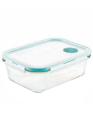 Lock & lock Lock and Lock Purely Better™ Glass Rectangular Food Storage Container with Steam Vent, 67-Ounce, , large