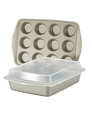 Rachael Ray 3 PC Swing Lid Set, Champagne Pewter, , large