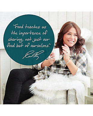 """Rachael Ray Create Delicious Aluminum 14.5"""" Open Frying Pan w/HH, Teal Shimmer, , large"""