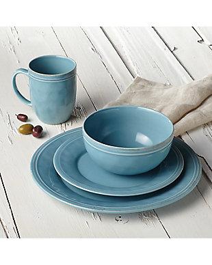 "Rachael Ray Cucina Dinnerware 16-Piece Set: (4) 10.5"" Dinner Plates, (4) 8"" Salad/Dessert Plates, (4) 5.5"" Cereal Bowls, (4) 12 oz. Mugs, Agave Blue, Agave Blue, rollover"