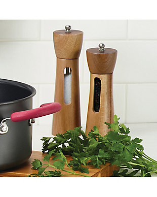 Rachael Ray Tools and Gadgets 2-Piece Acacia Salt and Pepper Grinder Set, , rollover