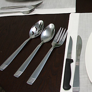 Gibson Home Palmore Plus 55 Piece Flatware Set, , rollover