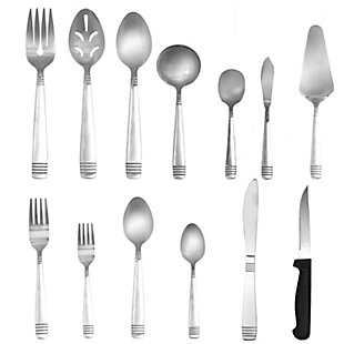 Gibson Home Palmore Plus 55 Piece Flatware Set, , large