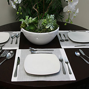 Gibson Home Hammered 46 Piece Flatware Set with Wire Caddy, , rollover