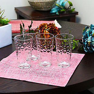 Gibson Home Great Foundations 4 Piece 16 oz. Tumbler Set in Bubble Pattern, , rollover