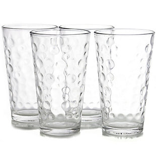 Gibson Home Great Foundations 4 Piece 16 oz. Tumbler Set in Bubble Pattern, , large