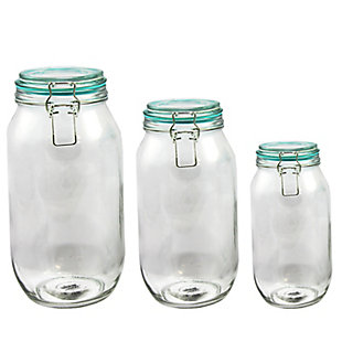 General Store Hollydale Preserving/Storage Jar Set with Wire Bail and Trigger Closure, Set of 3, , large