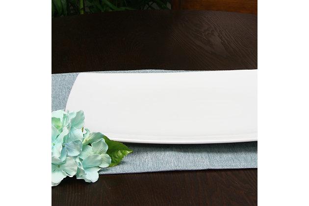 Gracious Dining Rectangular Ceramic Serving Platter, , large