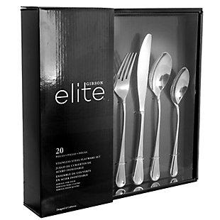 Gibson Elite York 20 Piece Flatware Set, , large