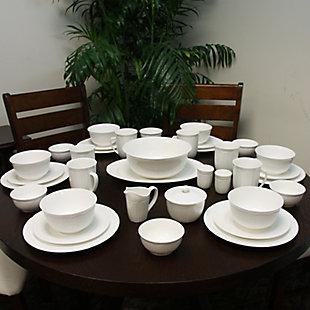 Elama Elama Butterfly Garden 16 Piece Stoneware Dinnerware Set, , rollover