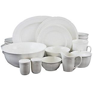 Elama Elama Butterfly Garden 16 Piece Stoneware Dinnerware Set, , large