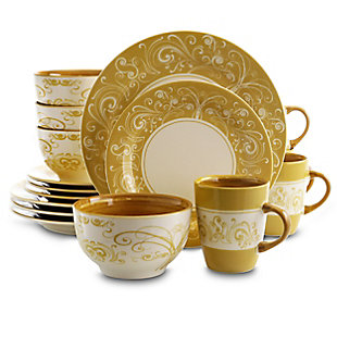 Elama Elama Parisian Swirl 16 Piece Dinnerware Set, , large