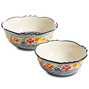 Gibson Home Luxembourg 2 Piece Stoneware Bowl Set, , large