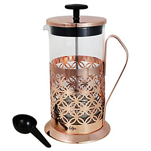 Mr. Coffee Trellise 32 oz Coffee Press with Scoop in  Rose Gold, , large