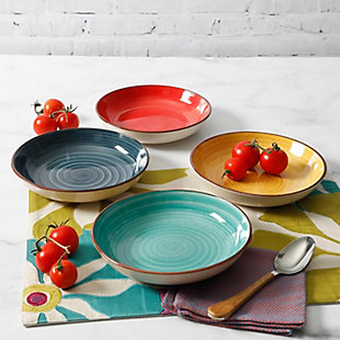 Gibson Home Color Speckle Bowl, Set of 4, , rollover